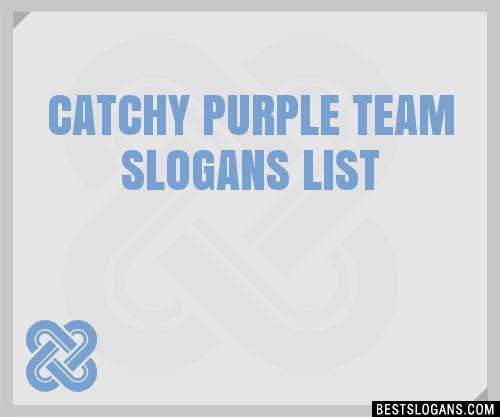 30+ Catchy Purple Team Slogans List, Taglines, Phrases