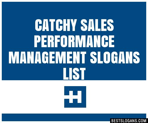 30 Catchy Sales Performance Management Slogans List