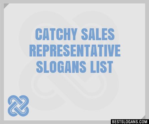 30 Catchy Sales Representative Slogans List Taglines