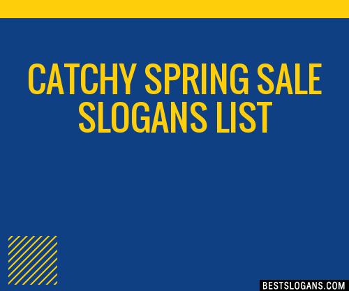 30  catchy spring sale slogans list  taglines  phrases